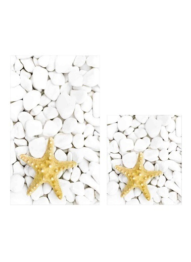 Soley Yıldız Djt. 2 Li Banyo Paspas Seti Klozet Takımı Renkli